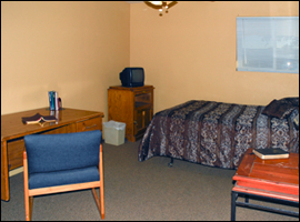 single recovery room at Phoenix sober house