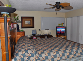 large private bedroom at Northwest Phoenix Sober House
